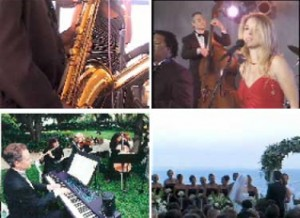 Live Music - Quartets and Bands performing classic and contemporary music for weddings and Parties