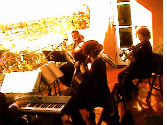 Elegant Music Quartet on a balcony Palm Desert Wedding