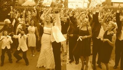 Group wedding photo Cravens Estate Pasadena, CA