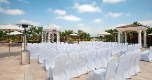 San Gabriel Hilton Roof Top Garden Terrace Wedding