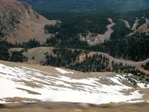 Pike's Peak Looking Down @ Base Camp