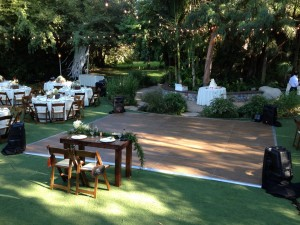 Dance Floor Surround Sound @ Hartley Botanica Wedding