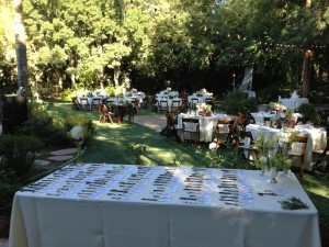 Place cards/keys Wedding Reception Hartley Botanica Somis, CA.