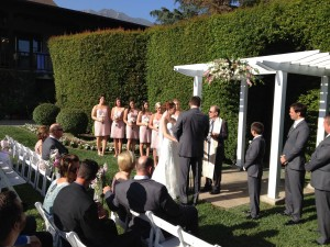 Elegant Music Wedding Ceremony @ Altadena Country Club