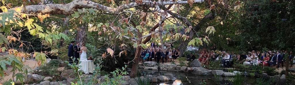 Wedding Ceremony @ Storrier Stearns Japanese Garden, Pasadena, CA.