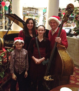 The Zimmermann family goes caroling on Christmas day @ the Universal Hilton