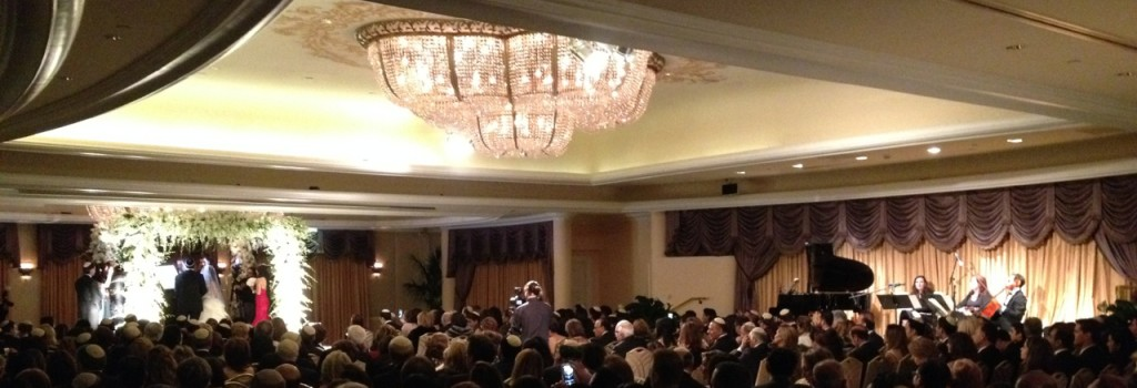 Elegant Music Quartet Crystal Ballroom Wedding Ceremony @ Beverly Hill Hotel