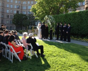 Beautiful Wedding @ The Horseshoe Garden Langham Huntington Hotel