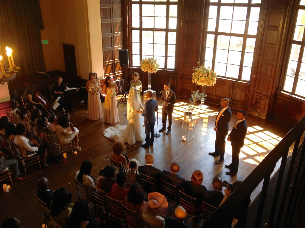 Elegant Music Quartet performs wedding ceremony @ historic Ebell of Los Angeles