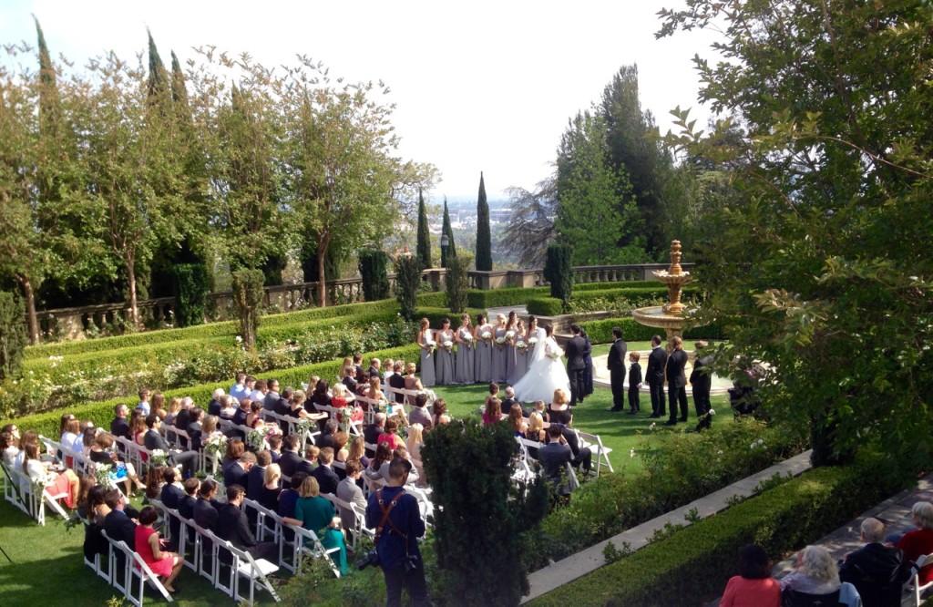 Wedding Ceremony, Formal Garden @ Greystone Mansion Beverly Hills, CA