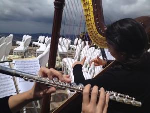 Flute and Harp Wedding Music @ Rocky Oaks Estates Malibu