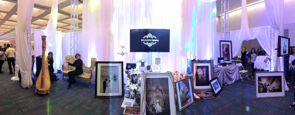 Elegant Flute and Harp music @ Wedding Factories Bridal Show Booth