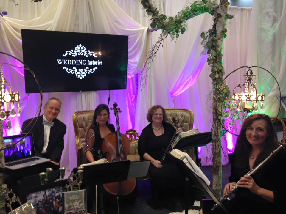 Elegant Music Quartet @ BrideWorld Bridal Show @ Wedding Factories Booth @ LA Convention Center