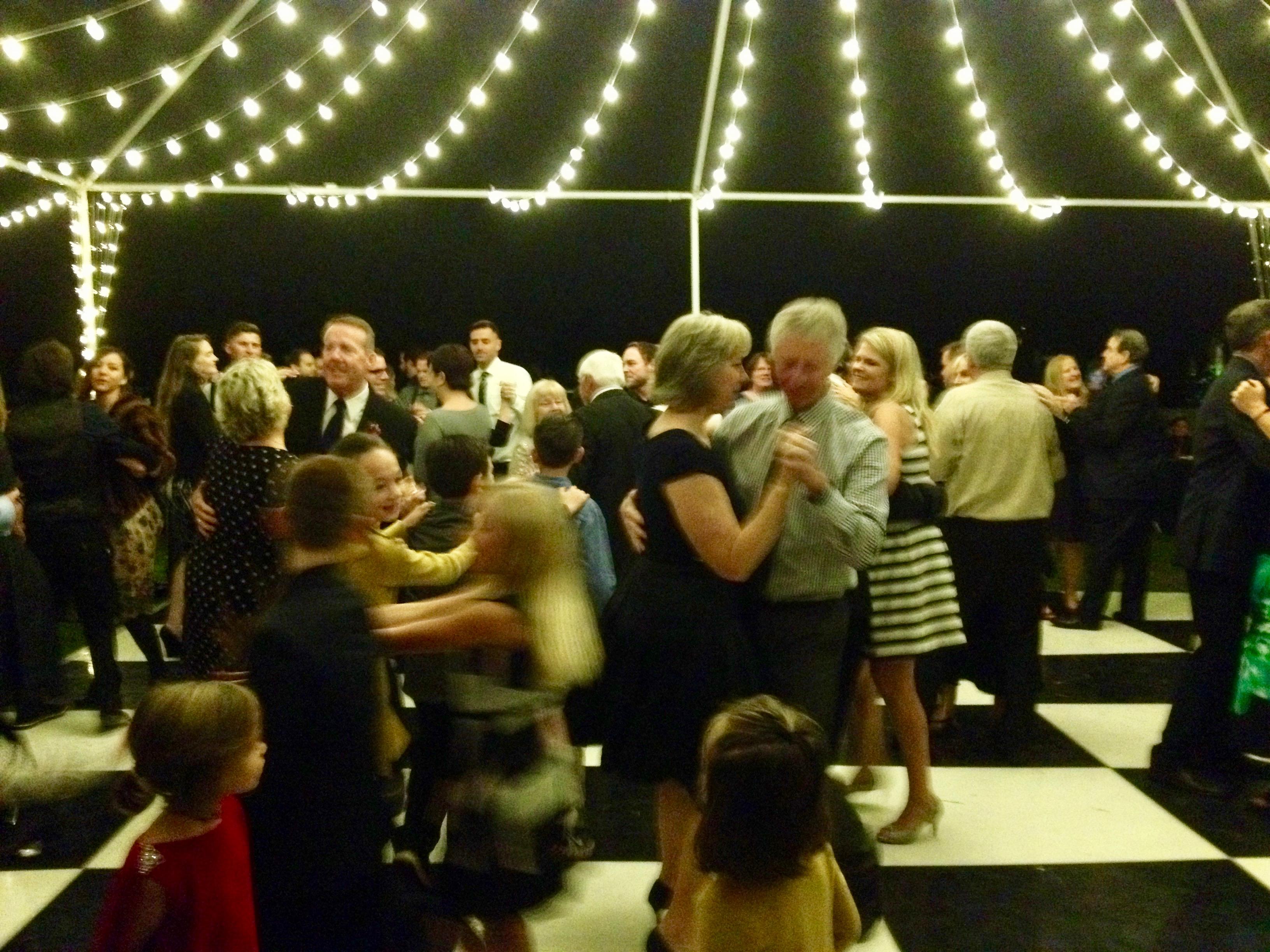 checker dance floor