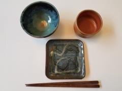Hand thrown Japanese Tableware by Linda Aratani