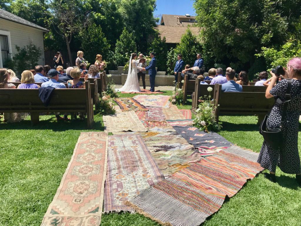 Decorative wedding aisle runner