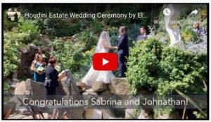 Wedding Ceremony Video Houdini Estate Los Angeles