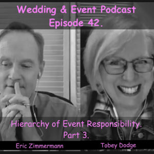 Heirarchy of Event Responsibility. Part 3. with Tobey Dodge and Eric Zimmermann