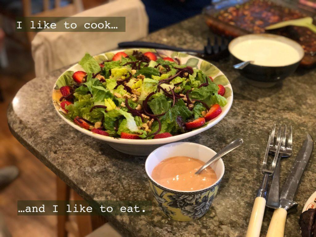Strawberry Walnut Salad - Dinner Party Food Ideas