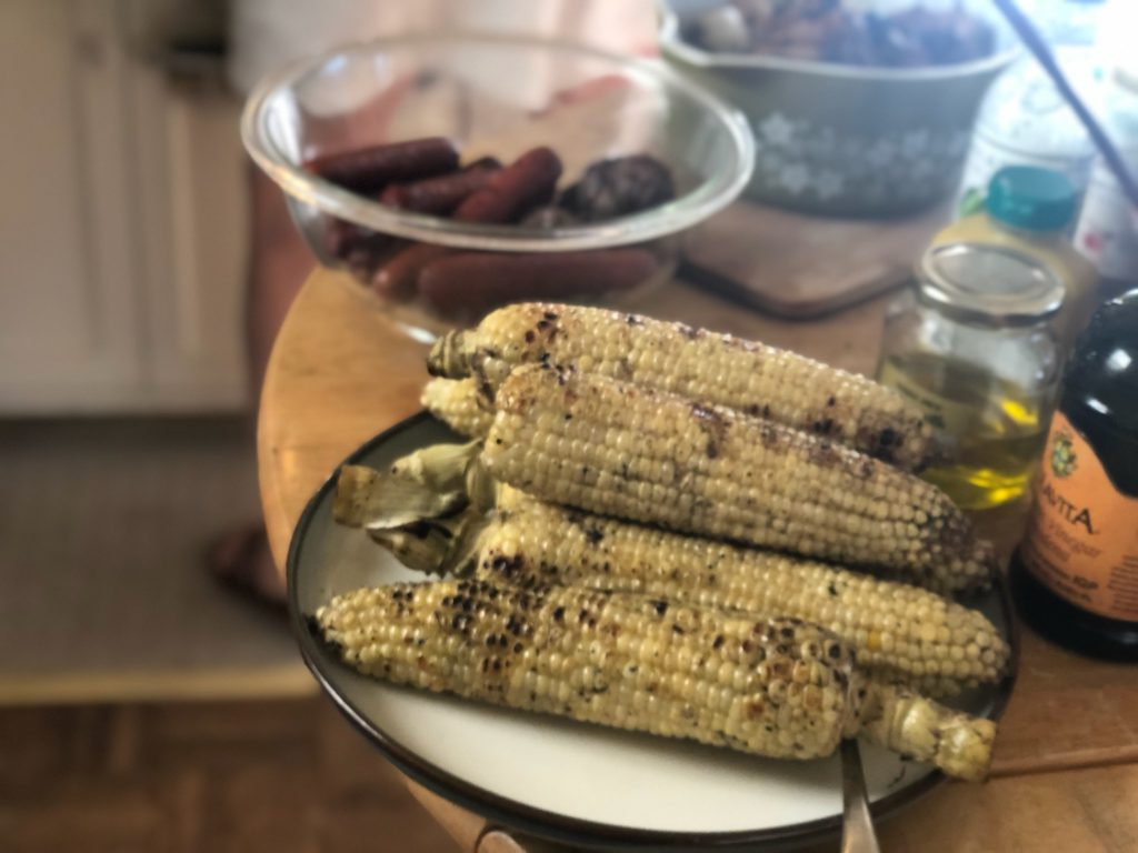 Grilled White Corn - Dinner Party Food Ideas