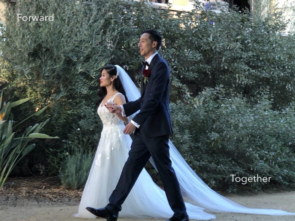 Bridal Couple Forward Together