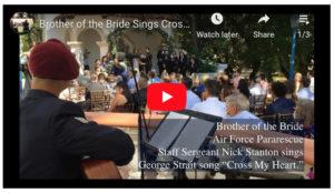 Brother of the Bride Sings Cross My Heart Rancho Las Lomas
